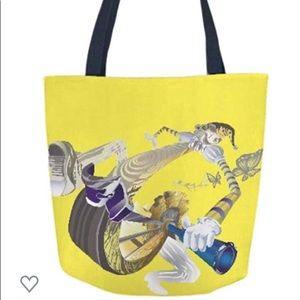 VIDA Rolling Clown Tote Bag
